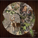 Camo with Deer Turkey and Duck Set of 2 Car Coasters - Car Coasters