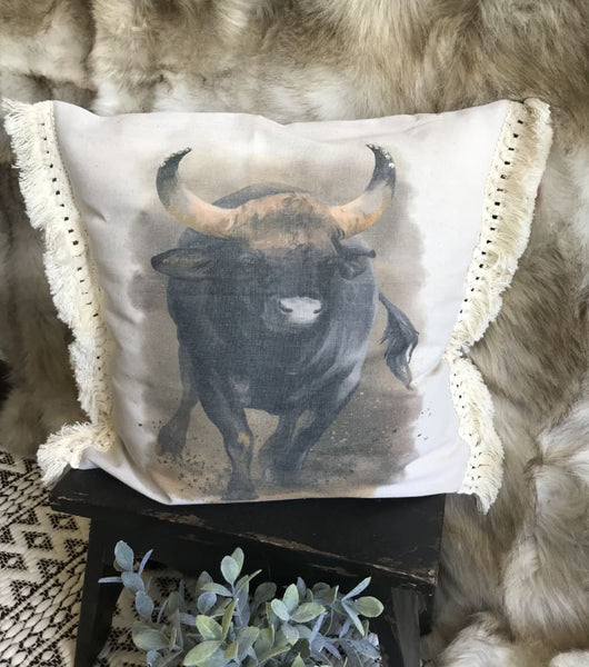 Charging Bull Decorative Throw Pillow - Pillow