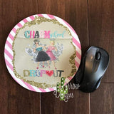 Charm School Dropout 8 Neoprene Round Mouse Pad - Mouse Pad