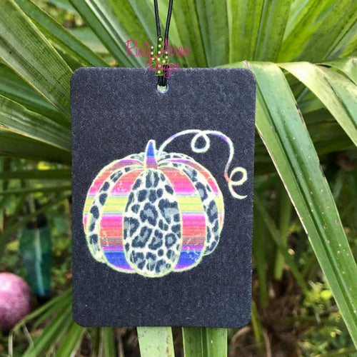 Cheetah and Serape Pumpkin Highly Scented Air Freshener - Air Freshener