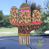 Cheetah and Stripes Cactus Air Freshener - Air Freshener