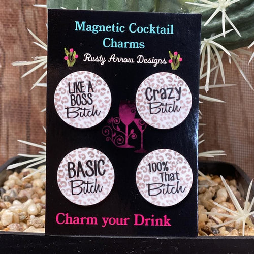 Cheetah Basic Bitch Magnetic Cocktail Charms
