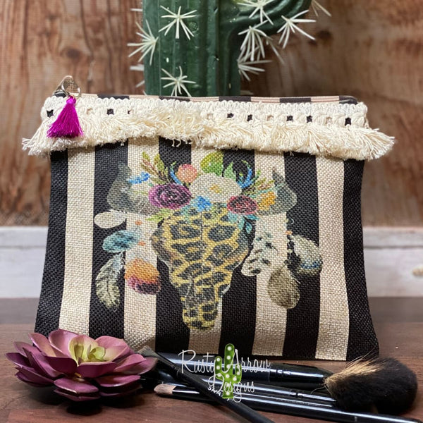 Cheetah Bull Makeup and Accessories Bag