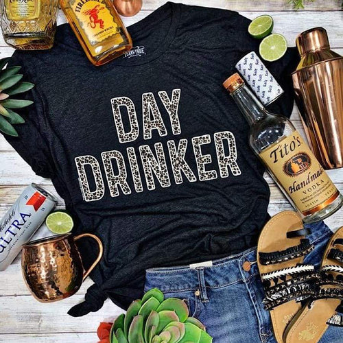 Cheetah Day Drinker Tee - Tee Shirt