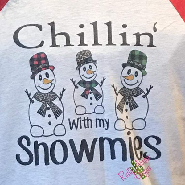 Chillin with My Snowmies Raglan Tee