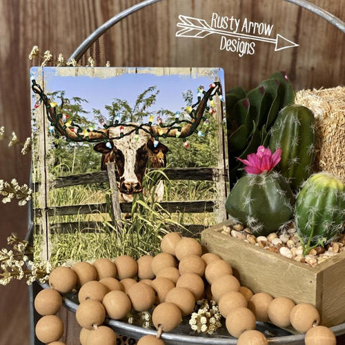 Christmas Longhorn Tiered Tray Sign/ Picture