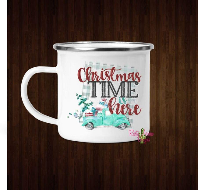 Christmas Time is Here Coffee Mug - 11 oz. Camp Cup Mug Stainless Steel - Mug