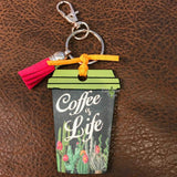Coffee Cup Key Chains - Coffee is Life