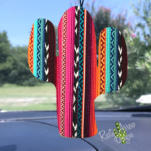 Colorful Stripes Cactus Air Freshener - Air Freshener
