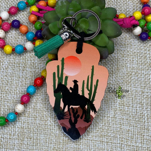 Cowboy Desert Arrow Head Key Chain - Key Chain
