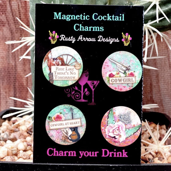 Cowgirl at Heart Magnetic Cocktail Charms