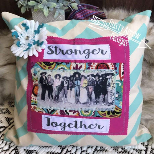 Cowgirl Stronger Together Pillow - pillows