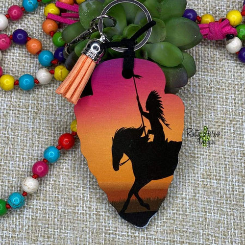 Desert Indian Arrow Head Key Chain - Key Chain