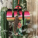 Desert Nights Cactus Rear View Mirror Charm Bag Tag or Christmas Ornament