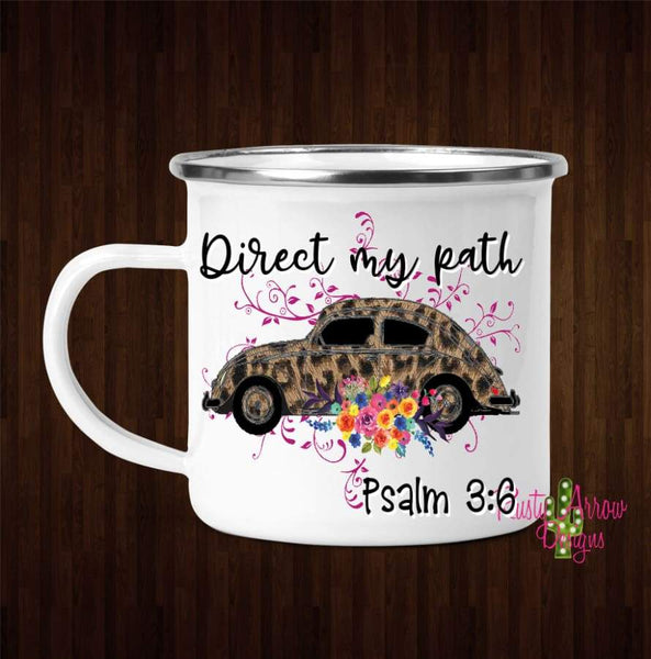 Direct my Path Coffee Mug - 11 oz. Camp Cup Mug Stainless Steel - Mug