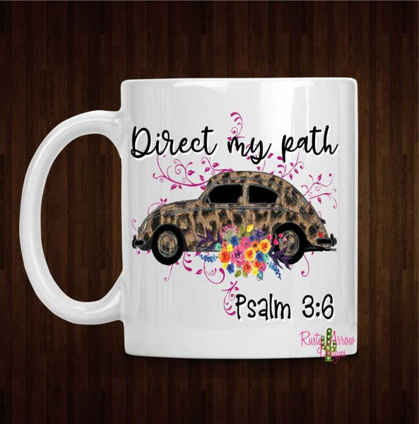 Direct my Path Coffee Mug - 11 oz White Ceramic - Mug