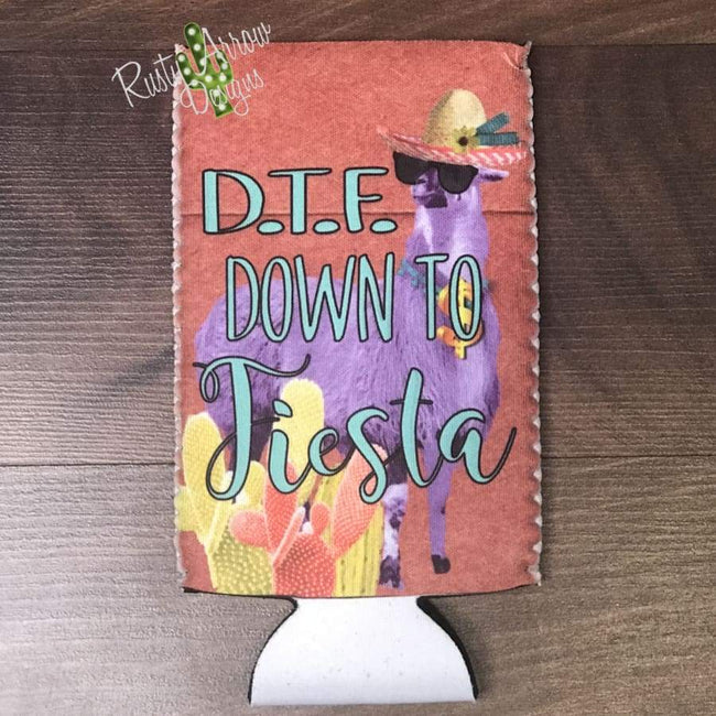 Down To Fiesta Bottle or Can Slim Koozie - Koozie