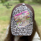 Drunk Again Cheetah Trucker Hat