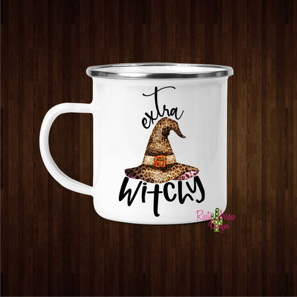 Extra Witchy 11oz Metal Camp Coffee Mug - Mug