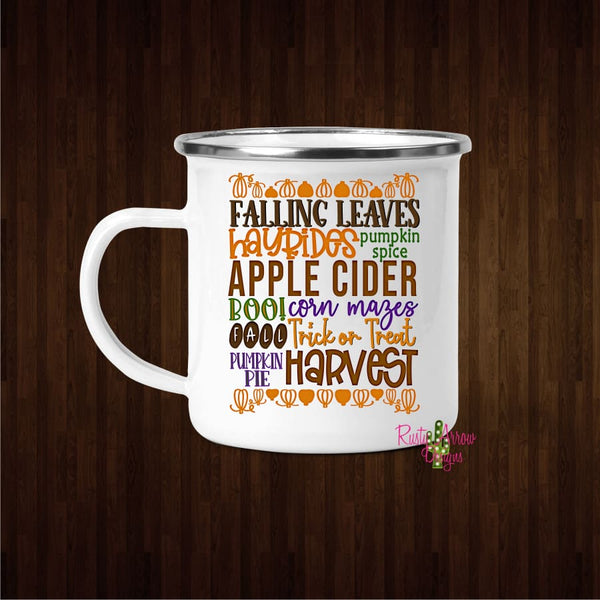 Fall Subway 11oz Metal Camp Coffee Mug - Mug