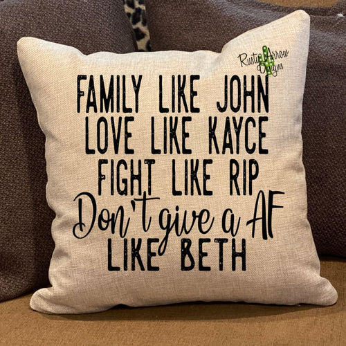 Family like John Pillow Cover - Pillow