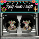 Farm Cow Set of 2 Car Coasters - Car Coasters