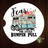 Fear the little Bumper Pull Set of 2 Car Coasters - Car Coasters