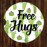 Free Hugs Set of 2 Car Coasters - Car Coasters