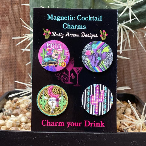 Funky Cactus Magnetic Cocktail Charms