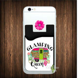 Glamping Queen Cell Phone Card Caddy - Card Caddy