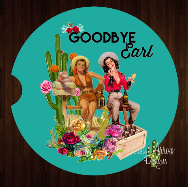 Good Bye Earl Set of 2 Car Coasters - Car Coasters