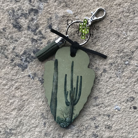 Cheetah Tepee Arrow Head Key Chain