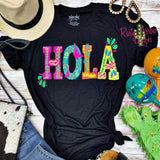 Hola Black Tee - Tee Shirt