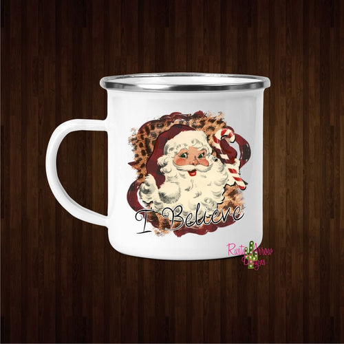 I Believe Santa 11oz Metal Camp Mug - Mug