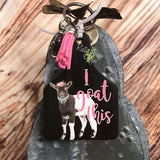 I goat This Livestock Ear Tag Key Chain