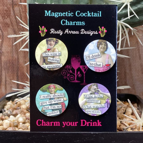 I'll Drink to That Magnetic Cocktail Charms