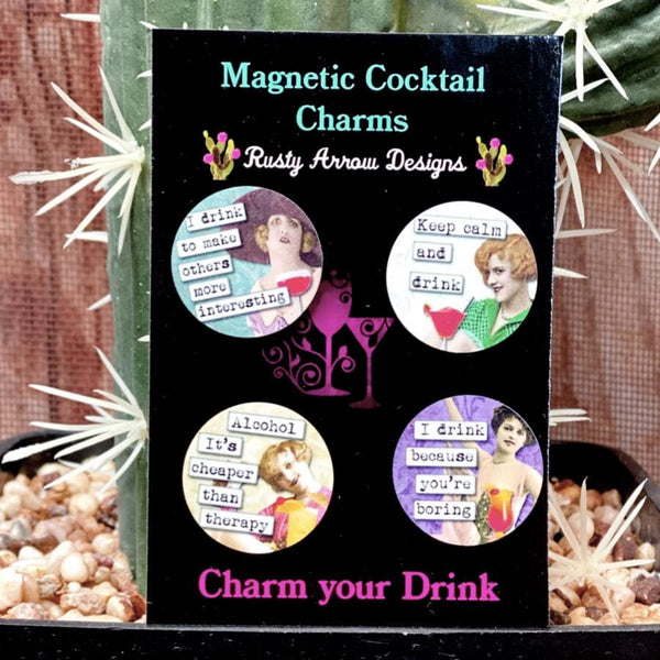Keep Calm and Drink Magnetic Cocktail Charms
