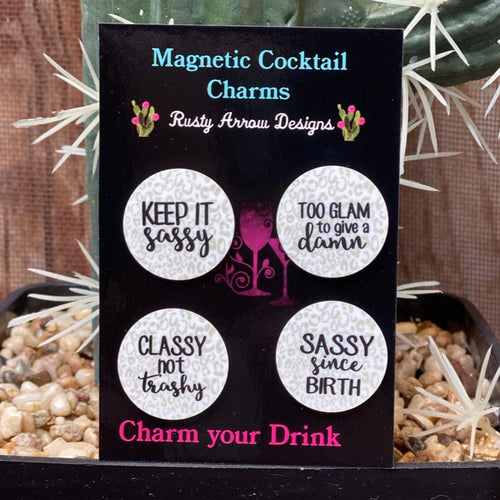 Keep it Sassy Magnetic Cocktail Charms