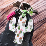 Key Chain White Small Cactus Plants s - Cactus Key Chain