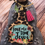 Love Me some Jesus Livestock Ear Tag Key Chain