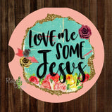Love Me some Jesus Set of 2 Car Coasters - Car Coasters