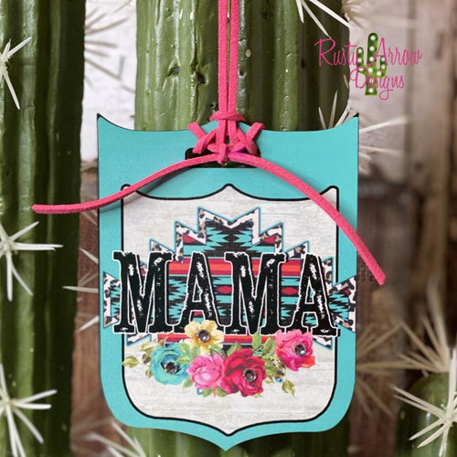 Mama Rear View Mirror Charm Bag Tag or Christmas Ornament
