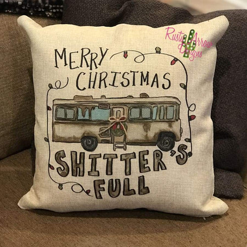 Merry Christmas Shitter Full Decorative Throw Pillow - Pillow