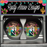 Mexico Gypsy Set of 2 Car Coasters - Car Coasters