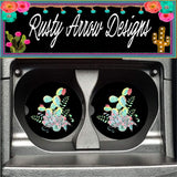 Neon Cactus Arrangement Set of 2 Car Coasters - Car Coasters