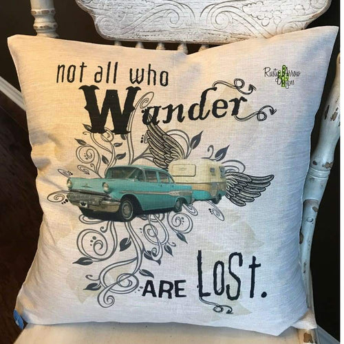 Not All Who Wander are Lost Decorative Throw Pillow - Pillow