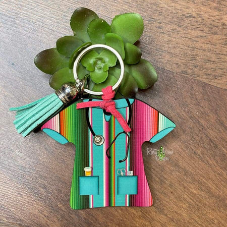 Fabulous Fort Worth Rodeo Back Tag Key Chain