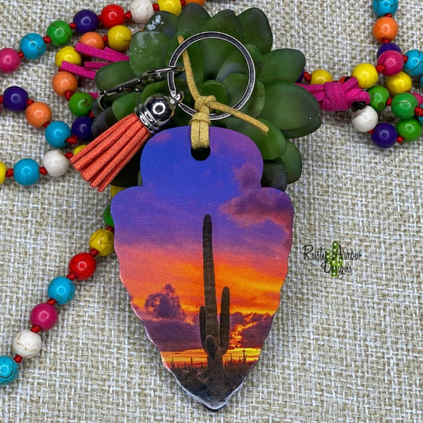 Purple Desert Arrow Head Key Chain - Key Chain