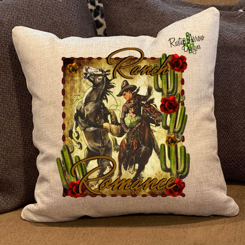 Ranch Romance Pillow Cover - Pillow