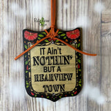 Rearview Town Tag Rear View Mirror Hanger Christmas Ornament Bag Tag